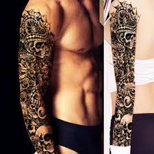 тату наклейки фут полная рука водонепроницаемая временная татуировка рукава