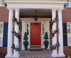 Front Door Decorating Home Decoration White Lighted Christmas Front Door Decoration