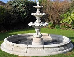 garden fountain. Unique Garden Stone Garden Water FountainOrnate 3 Tier Fountain And 11ft Pool Surround  Self Contained Outdoor Ornate Garden Feature Amazoncouk U0026  In Fountain R
