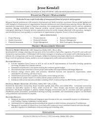 Program Manager Resume Jk Financial Project Manager Property Manager
