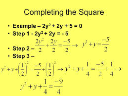 give the steps in solving quadratic equation by completing square