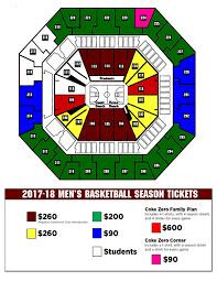 Gamecock Seating Chart Gamecock Mens Basketball Gamecocks