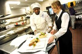 casola dining room. Wonderful Dining Culinary Students Kessington James Left And Cassandra Stefaniak Ready A  Tray Of Food For With Casola Dining Room F