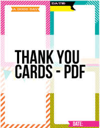 Free Downloads Thank You Cards Free Journaling Cards Download Thank You Cards Date Smashbook