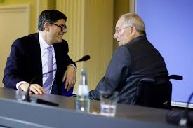 Jack Lew in Berlin: Schäuble verteidigt die deutschen Exporte -  Wirtschaftspolitik - FAZ