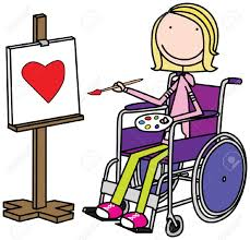 Child Clipart Wheelchair Pencil And In Color Child Clipart
