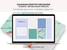 Calendar Desktop Organizer 12 Month ...