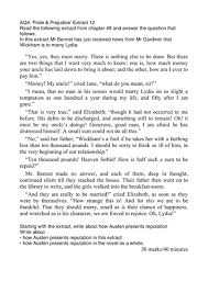 aqa pride and prejudice extract questions on themes in the  aqa pride and prejudice 13 extract questions on themes in the novel by walbere teaching resources tes