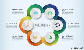 Circle Graphic Vector Elements For Infographic Template