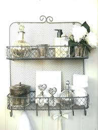 wire bathroom shelves wire bathroom shelves shabby chic vintage metal wall shelf unit rack hooks storage