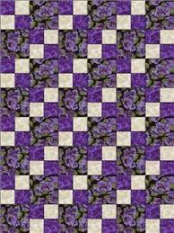 Debbie Beaves Lovely Purple Cream Black Floral Pansy Fabric Quilt ... & Debbie Beaves Lovely Purple Cream Black Floral Pansy Fabric Quilt Block Kit  Cut Adamdwight.com