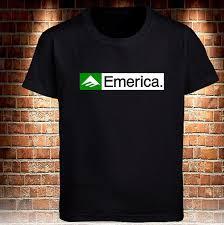 Emerica Size Chart Emerica Skateboard Logo Black T Shirt Grey White Mens Tee Size S To 3xl Cool Casual Pride T Shirt Men Unisex Fashion Tshirt Tee Shirts Online Cool
