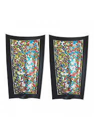 abstract metal wall art candle sconces