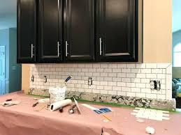 installing subway tile backsplash white kitchen subway tile installing glass subway tile backsplash