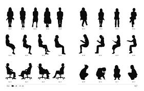 デザインアイデア素材集シルエットイラスト 人物小物 Image
