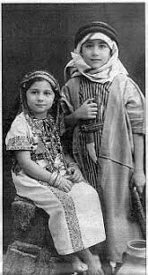 edward said a photo of edward said and his sister as children dressed in arab style