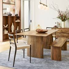 anton solid wood dining table burnt wax
