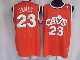 James Orange Lebron Throwback Jersey