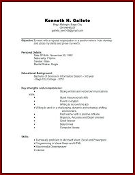 College Resume Templates Impressive Resume For Undergraduate College Student With No Experience