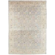 antique persian tabriz carpet pale light blue and beige carpet allover design for
