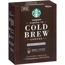 Simply pop the top off a can and pour it into your favorite coffee maker, i prefer a pour over, but they are perfectly portioned for french presses, automatic drip makers and percolators, too. Starbucks Narino 70 Cold Brew Coffee Black 2 2 15 Oz Pitcher Packs Hy Vee Aisles Online Grocery Shopping