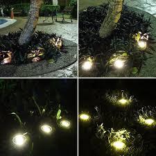 Disk Lights Solar 8 Ledsolar Power Disk Lights Buried Light Outdoor Under