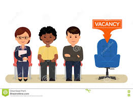 vacancy cartoon people sitting on chairs awaiting an interview cartoon people sitting on chairs awaiting an interview for employment recruitment