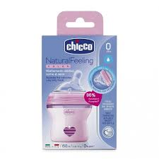 <b>Бутылочка Chicco Natural Feeling</b> силикон, с наклоном и ...