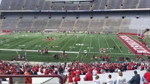 Wisconsin Badger Football Stadium Seating Chart Camp Randall Stadium Section R Row 57 Seat 36 Wisconsin