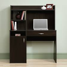 image of laptop small desk hutch