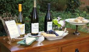 New Jersey Bridewine display for drinks table