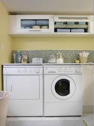 cheerful yellow laundry room