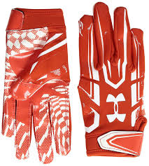under armour youth football gloves. amazon.com : under armour boys\u0027 pee wee f5 football gloves, dark orange/white, one size sports \u0026 outdoors youth gloves a