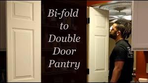converting bi fold doors to double french doors