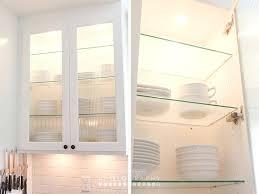 glass shelves for cabinets kitchen classy white kitchen decoration using white wood glass shelf kitchen cabinet glass shelves for cabinets