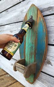 reclaimed wood furniture ideas. surfboard wood bottle opener with fin cap catcher rustic reclaimed kitchenu2026 furniture ideas