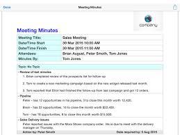 munites of meeting simple meeting minutes on the app store