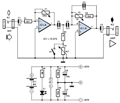 vocal adaptor for bass guitar amp circuits projects vocal adaptor for bass guitar amp circuit diagram