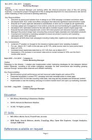 Template Marketing Resume Templates New Samples Sample Template