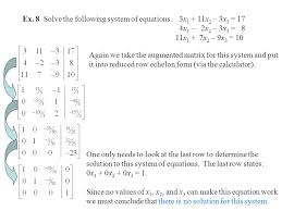 ex 8 solve the following system of equations 3x1 11x2 3x3