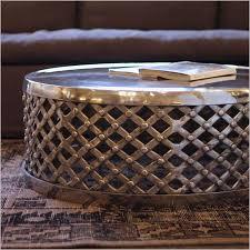 drum coffee table. Polished Metal Coffee Table; Lennox; Lennox Drum Table