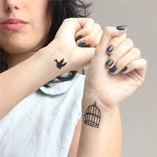 Hc1060 Vodotěsné Falešné Tetování Samolepky Milovníky Ruku Rychle