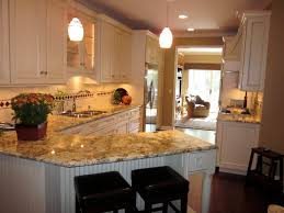 Colonial Gold Granite Kitchen Dura Supreme Cabinets Antique White With Espresso Glaze Geriba