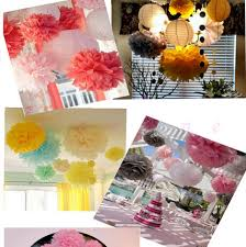 Hanging Paper Flower Balls Us 42 5 5 Off 29 Colors Avaiable Tissue Paper Pompom Rose Baby Shower Wall Decoration 10inch 25cm 100pieces Lot Hanging Paper Flowers Ball In