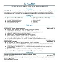 computer support technician resume office technician resume examples free to try today