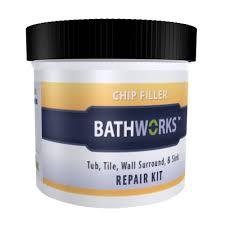 bathworks 3 oz diy bathtub and tile chip repair kit cr 20 the of tub and