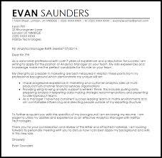 Data Analytics Cover Letter Analytics Manager Cover Letter Sample Cover Letter Templates