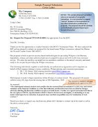 Rfp Cover Letter Examples - Sarahepps.com -