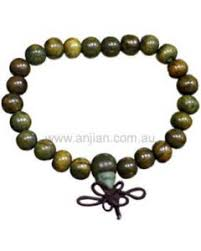 mala bead green sandalwood bracelet bd033