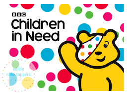 Pudsey Bear Children in Need Edible Cake Topper